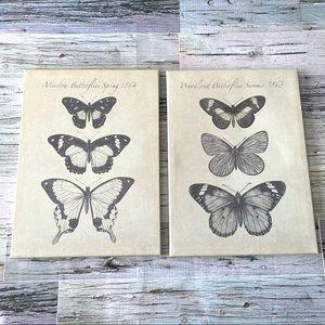 IKEA Canvas butterfly prints